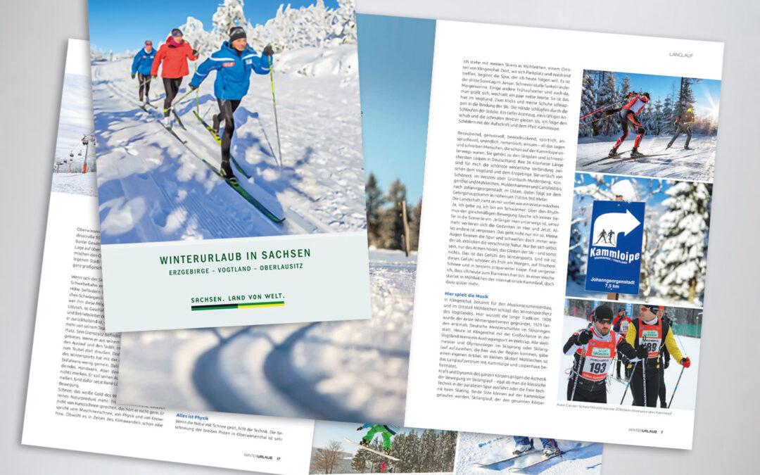 Kunstschnee und Schneekunst im Erzgebirge.