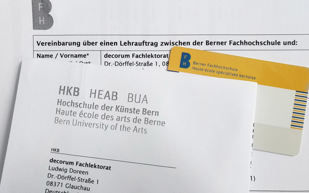 Lehrauftrag der Hochschule für Künste Bern (HKB), Schweiz