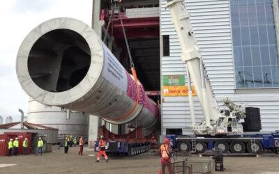 Text für Video: Schwerlastmontage in einer Papierfabrik