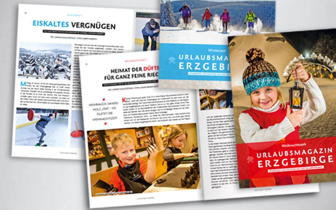 Druckfrisch: Wintermagazine machen Lust auf Erzgebirge