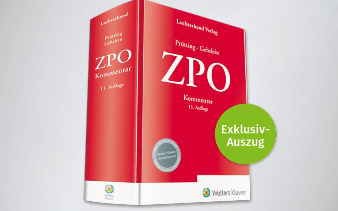 Kommentarwerk Prütting/Gehrlein, ZPO, 11. Auflage