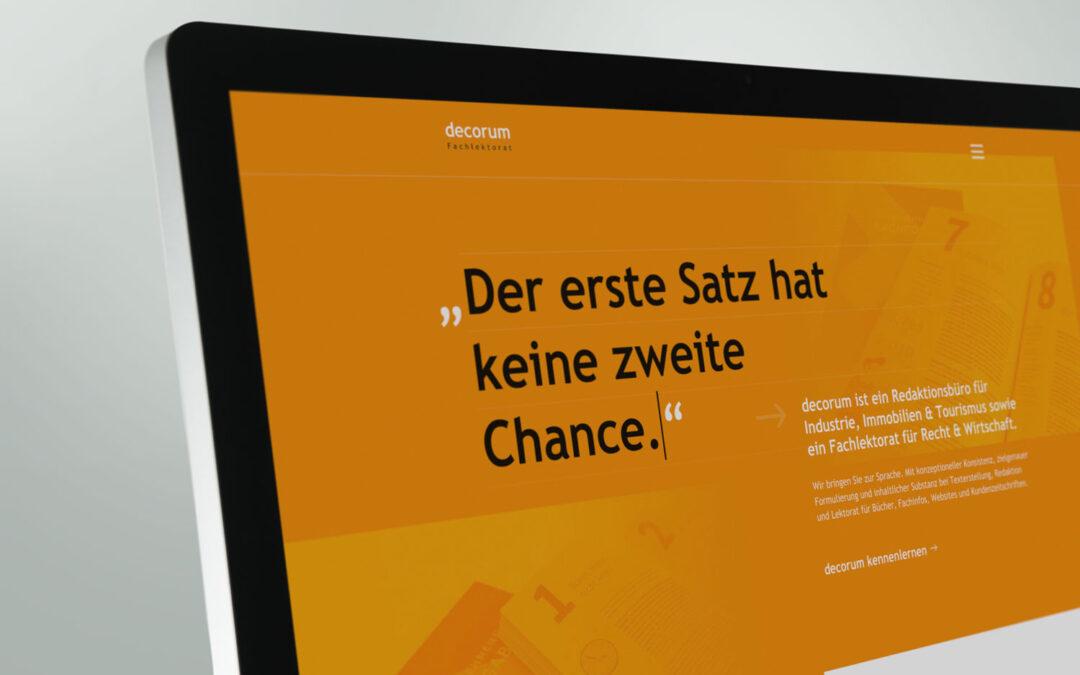 Sommerfrische: Neue decorum-Website online
